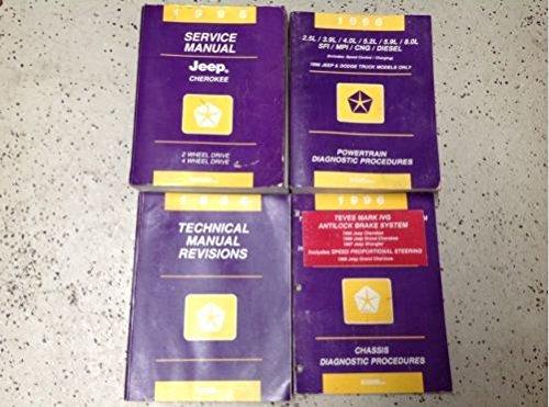 1996 JEEP CHEROKEE Service Repair Shop Manual Set W Diagnostics & Revisions OEM (Cherokee Engine)