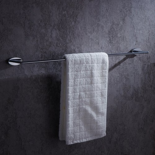 AUSWIND Contemporary Chrome Finished Wall Mounted Oval Base Towel Bar,Brass Bathroom Accessories K6 well-wreapped