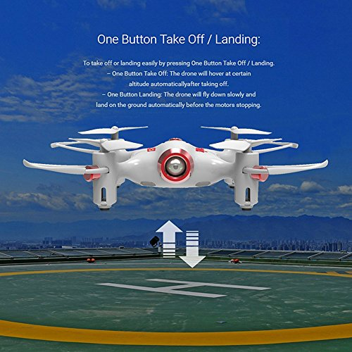 ZANTEC-Syma-X20-10-Inch-Mini-Remote-Control-55yd-RC-Helicopter-Best-Pocket-Drone-Quadcopter-White