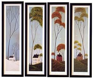 Amazon.com: Framed Four Seasons Warren Kimble Prints ...