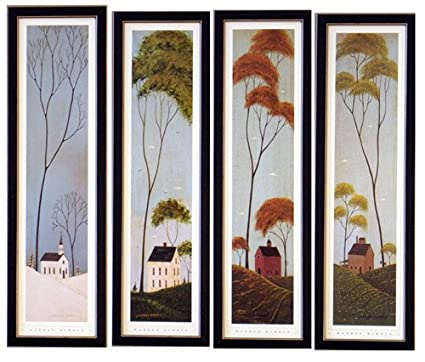 Framed Four Seasons Warren Kimble Prints Pictures by Framed Art by ...