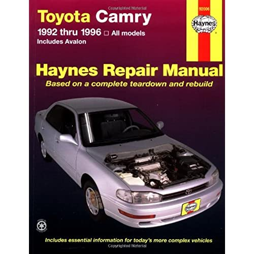 toyota repair manual amazon com rh amazon com 1993 Toyota Camry Transmission Parts 1993 Toyota Camry Undercarriage