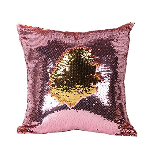 Tinksky Glitter Changing Pillowcase Decoration