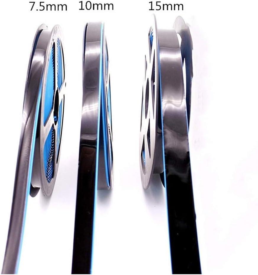 Azulejo autoadhesivo cinta anti-moho cinta adhesiva esquinas decorativas que cubren la superficie de la pared azulejo cinta anti-moho 7.5mm, negro