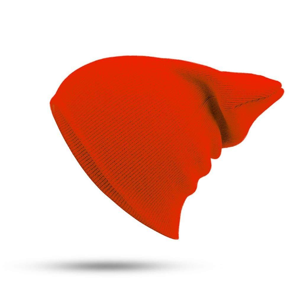 Sombrero Femenino Unisex Mezclas de Algodón Sólido Cálido Gorros de Punto Suaves Hombres Gorras de Invierno Gorros de Las Mujeres Gorros para Chica Al por ...