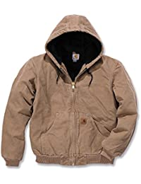 Mens Quilted Flannel Lined Sandstone Active Jacket J130