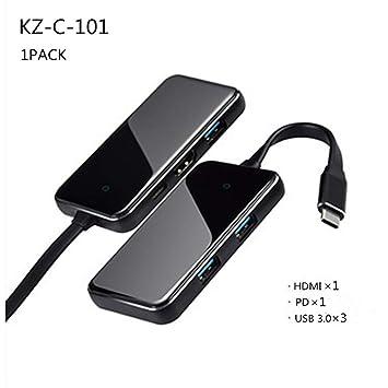 Adaptador De Concentrador USB C, 4K HDMI PD, Lector De ...