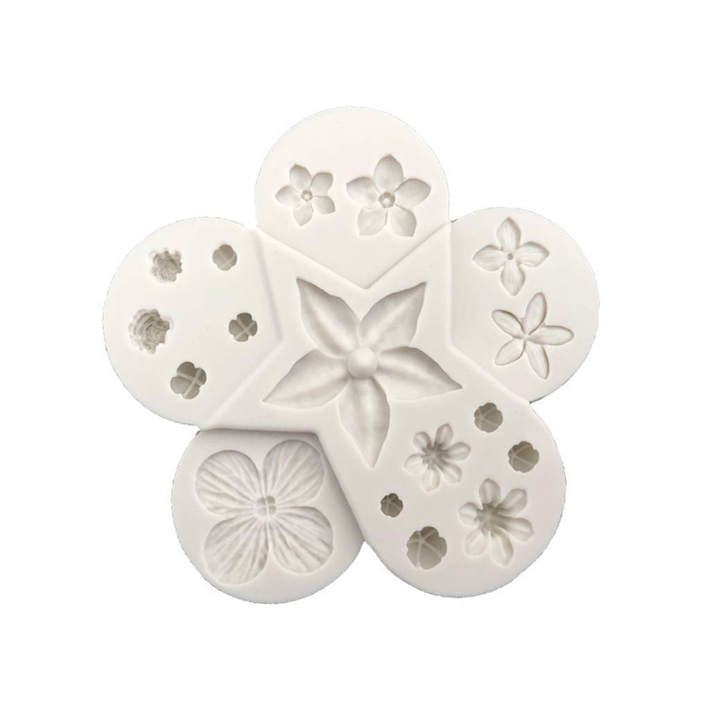 Yevison 3D Flower Leaf Combination Silicone Chocolate Cookie Mould,Filler Mold Cake Soap Mould, DIY Handmade Biscuit Clay Mould Durable and Useful
