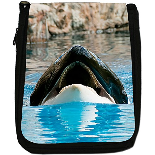 Shoulder Black Shows Orca Off Orcinus Bag Killer Size Canvas Medium Whale Jaws Whales ZRxgqgOwY