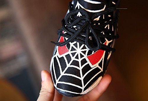 Scarpa da Ginnastica per Bambini con Stringhe Colore Nero HKB-144