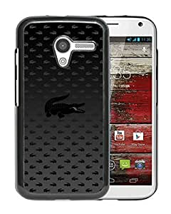 Lacoste 13 Black Abstract Personalized Picture Motorola Moto X Case