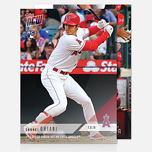 2018 SHOHEI OHTANI 1st CAREER PINCH-HIT HOMERUN LIFTS ANGELS TOPPS NOW CARD #432 + TOPLOADER ()