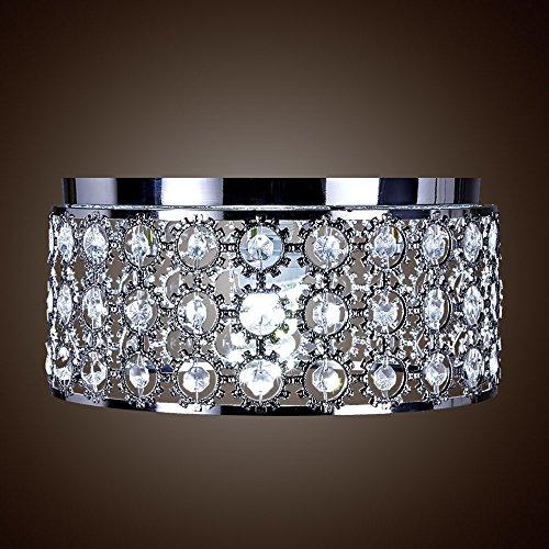 SwanHouse Flush Mount Pendant Ceiling Lighting Chandelier Silver Modern Lamp KQL W15 x H10