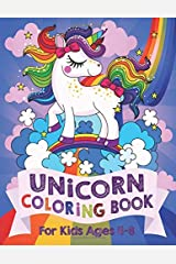 Unicorn Coloring Book: For Kids Ages 4-8 (US Edition) (Silly Bear Coloring Books) Paperback