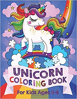 Unicorn Coloring Book For Kids Ages 4 8 Us Edition Silly Bear