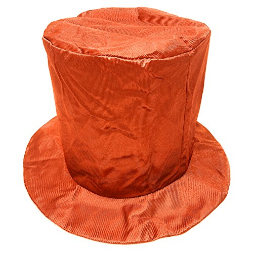 Discount Top Hats (Adult Shiny Orange Top Hat ~ Fun New Year's, Costume, Birthday, Party Accessory)