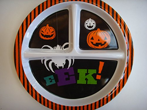 Halloween Child's Sturdy Plastic Divided Plate 8