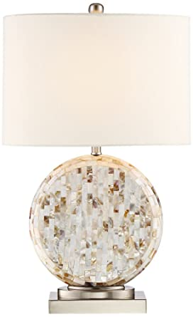 Tracey Round Mother Of Pearl Table Lamp Amazon Com