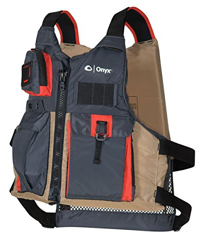 Onyx Kayak Fishing Life Jacket, One Size, Tan