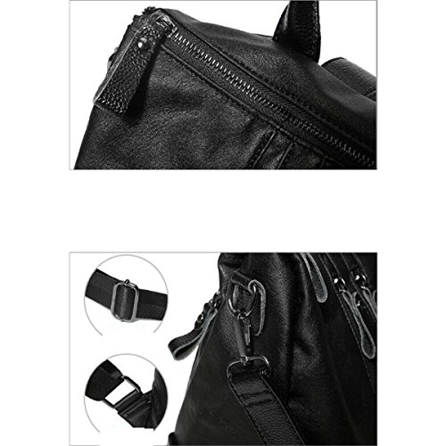 Rucksack Von ZAIYI Dual-Purpose Schulter Schultern Weiblichen Wildleder Taschen Lässige Dame Weibliche Flut Rucksack Reisen Rucksack,Black Black