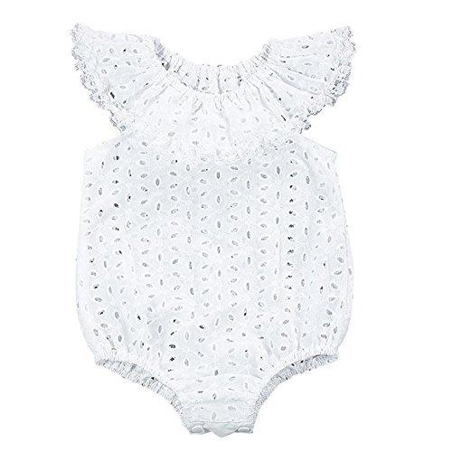 LUNIWEI Baby Lotus Leaf Bodysuit Romper Jumpsuit Sunsuit Clothes