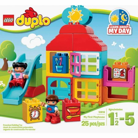 LEGO DUPLO My First My First Playhouse, Includes 2 child LEGO DUPLO figures
