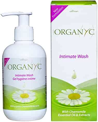 Organyc Intimate Wash for Sensitive Skin, 8.5 Fluid Ounce