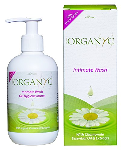 Organyc Intimate Wash for Sensitive Skin, 8.5 Fluid Ounce (Deodorant Perfume Liquid)