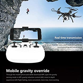 0.3 MP Quadcopter,X5UW 4CH 6-Axis FPV RC Quadcopter Wifi Camera Real Time Video 2 Control Modes By Dacawin