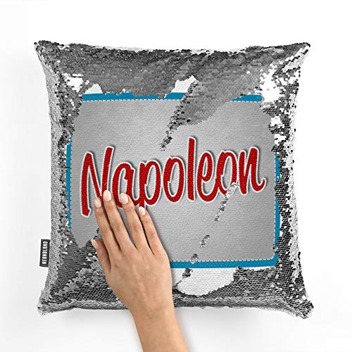 NEONBLOND Mermaid Pillow Cover Napoleon, Cat Breed Reversible Sequin ()