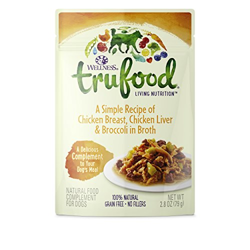 Wellness TruFood Complements Natural Grain Free Wet Raw Dog Food, 2.8-Ounce Pouch (Pack of 24)