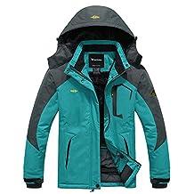 Wantdo Women's Waterproof Mountain Jacket Fleece Windproof Ski Jacket
