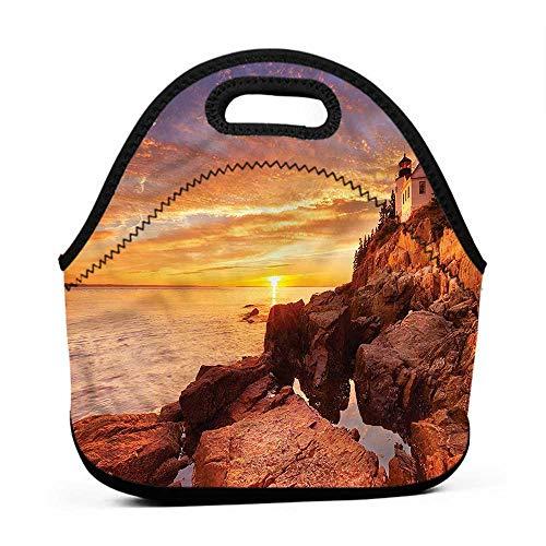 Removable Shoulder Strap National Parks,Lighthouse on Stones,tinkerbell lunch bag for adults
