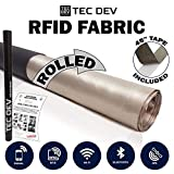 RF Faraday Fabric, EMF Shield, Blocker, Faraday Cage, RFID, Conductive Shielding, Military Grade to Block EMI, WiFi, Cell Phone, Bluetooth, 45' x 43' /13sq. ft./1.47 Sq. Yds. + 45'L Conductive Tape