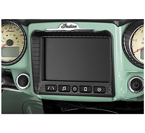 Kuryakyn Satin Black Stereo Accent for Indian 2017-2018 Chieftain and Roadmaster Models
