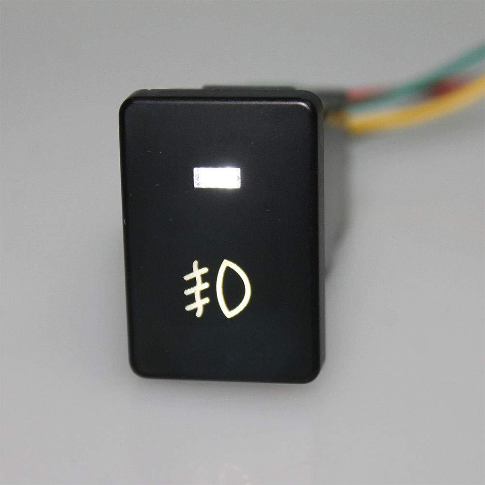 Ocamo Bot/ón de la luz de Niebla del Interruptor de Foglight del Cable DC12V 4 de 120m m de 120m m para Toyota