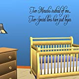 Twins Baby Room Wall Quote Decal Nursery Decor Kids Home Decor Lettering Sticker