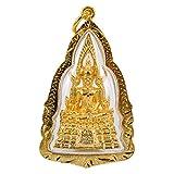 Phra Phuttha Chinnarat Talisman Famous Thai Buddha Gold Pendant PPCN02-2