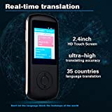 Smart Voice Language Translator Device,Real-time Two-Way Foreign Speech/Text WiFi&4G 2.4 inch IPS Touch Screen for Learning Travel Business Shopping English Spanish German Chinese Etc(Black)
