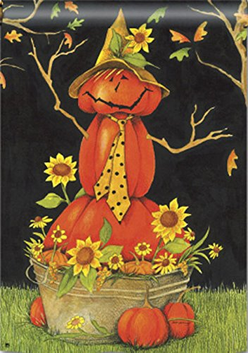 """Mr. Scarecrow"" Pumpkin Man, Sunflowers 28″x40″ Fall House Flag Review"