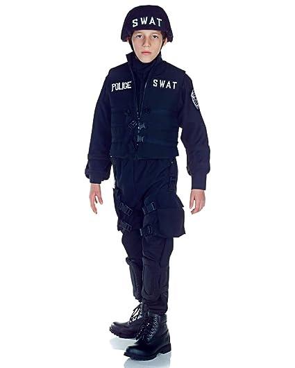 Horror-Shop Disfraz de policía SWAT para niños L: Amazon.es ...