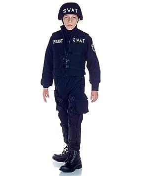 Horror-Shop Disfraz de policía SWAT para niños M: Amazon.es ...