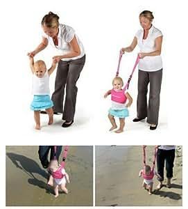Hivel Handheld Asistente de Caminar Bebe Baby Walker Toddler Walking Assistant Nino del Bebe Aprenda a Caminar Cinturon Andador Asistente Arnes de Seguridad - Azul Oscuro