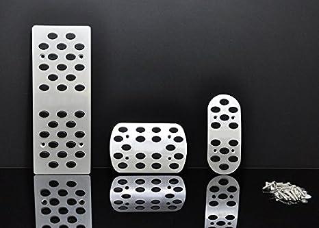 Wotefusi coche nueva aleación de aluminio Combustible Gasolina Freno De Embrague Pedal De Frenado Pad Foot Rest Plate Set para Toyota RAV4 en: Amazon.es: ...
