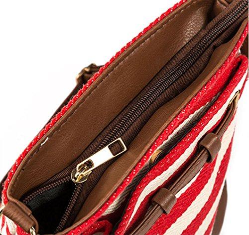 Bags Stripe Tote Zipper Handbags Belts Day Deals 2018 Canvas Yellow Prime Package Women Postman Fashion Mmessenger Week Women Bags Shoulder Bag New IS0qxYw