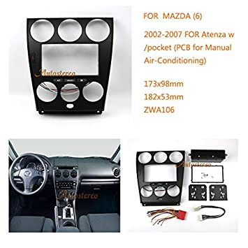 zwnav car audio radio mounting frame fascia panel for mazda 6 rh amazon co uk manual radio mazda 6 2008 2006 mazda 6 radio manual