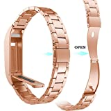 Hot sale!!!Siviki Stainless Steel Strap Wrist Band Replacement Bracelet For Fitbit Flex (Rose Gold)