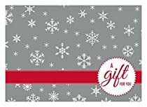 #17 Mini Gift Card Envelopes (2 11/16 x 3 11/16) - Silver Snowflake Design (50 Qty.)| Perfect for Holiday Gifts and Year End Gratuity