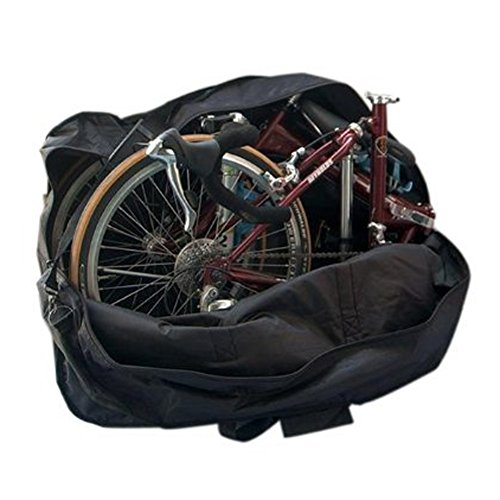 Enjoydeal 14-inch to 20-inch Thick Bike Bicycle Folding Bike Carrier Bag Carry Bag Pouch (Folding Brompton Bicycle)