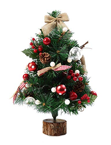 Irafyuiwygfuw Desktop Decoration Christmas Decoration 20in Christmas Tree Package Hotel Window Decoration Arrangement Green with Christmas Tree with Cones and red Berries